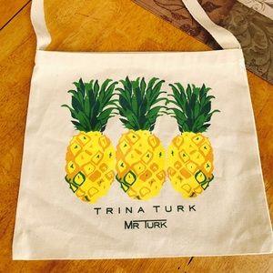 Brand new Trina Turk canvas pineapple tote bag